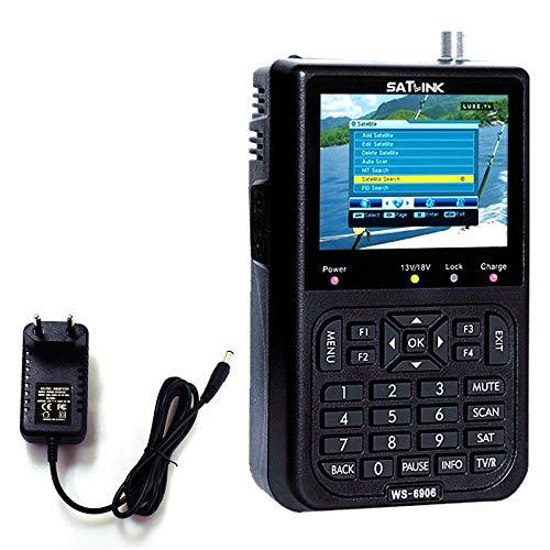 Roeam Satellite Finder,SATLINK WS6906 Misuratore del Segnale Satellitare da 3,5 Pollici con Display Digitale per Televisore e Altri Lettori Multimediali