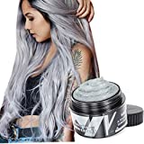 Hair Color Wax - Sliver Gray Hair Dye Instant Natural Matte Hairstyle Cream coloring for Men Women Kids Party Cosplay Date Halloween