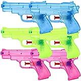 TE-Trend 6 Stück Wasserpistolen Spritzpistolen Set 13 cm Kindergeburtstag Party Mitgebsel