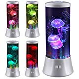 yeapree Large Electric Jellyfish Night Light LED Desktop Fantasy, led lightsJellyfish Lamp with Color Changing Light Effect for Relaxing Mood,Silver