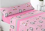 Energy Colors Textil - Hogar - Kid Bed - Juego Sábanas Térmicas Tipo Pirineo Polar 3 Pie...