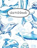Sketch Book: dolphin sketchbook with Blank Pages for Drawing, Sketching, Writing, and Doodling - Large 8.5 x 11 Drawing Pad