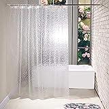 Greenf - Cortina de ducha transparente (200 x 220 cm, PEVA, efecto PEVA, cortina...