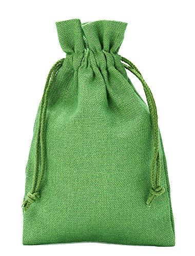 organzabeutel24 | 10 Baumwollsäckchen, Baumwollbeutel, Größe 30x20 cm mit Baumwollkordel, Geschenksäckchen, Nikolaussäckchen, Weihnachtsverpackung (Grün)