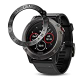 Notocity Compatible with Fenix 5X Watch Cover Stainless Steel Metal Bezel Anti Scratch Protective Case for Fenix 5X Smartwatch(Black-3)