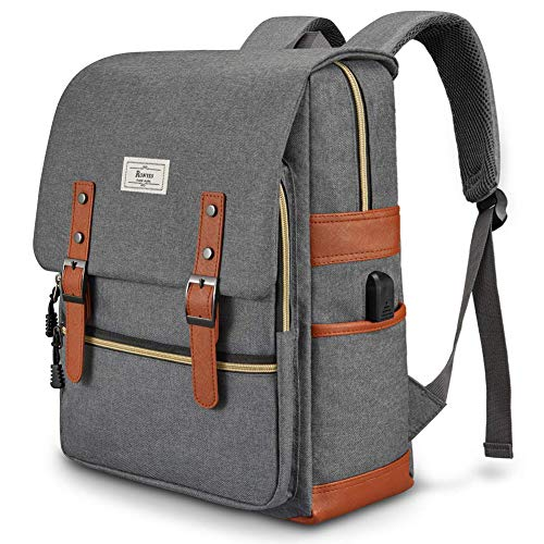 Ronyes Unisex College Bag Fits up to 15.6'' Laptop Casual Rucksack Waterproof School Backpack Daypacks (Gray)