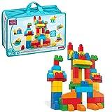 Mega Blocks - Deluxe Building Bag Bolsa de Construcción, Multicolor, 46.0 x 29.0 x 20.1 cm (Mattel CNM43)