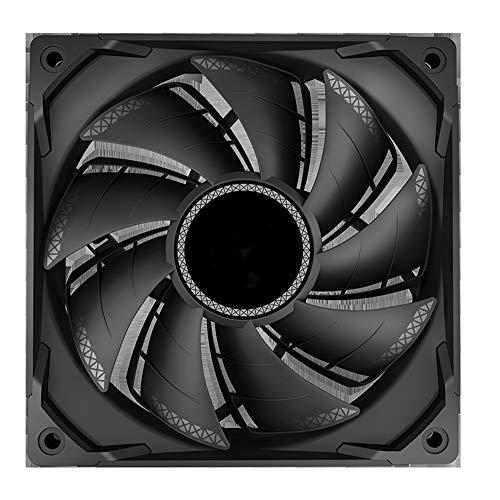VIVITG TF 120S Rendimiento Ventilador de Caja, 12cm PWM de 4 Pines Silencio Disipación de Calor Ordenador Personal Enfriador Enfriamiento Aficionados,Negro