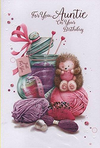 voor u, tante op uw verjaardag - verjaardagskaart