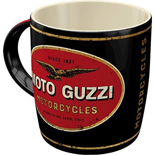 Nostalgic-Art Retro Kaffee-Becher - Moto Guzzi - Logo Motorcycles, Große Lizenz-Tasse mit Moto Guzzi-Motiv, Vintage Geschenk-Idee , 330 ml