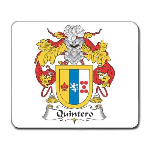 Quintero Family Crest Coat of Arms Mouse Pad