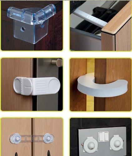 Sécurité enfants heits Set, 30 pièces prise de protection, armoire Schloß, réfrigérateur Disjoncteur