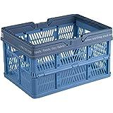 天馬(Tenma) 折りたためるバスケット ブルー  L 幅45×奥行32×高さ24cm PRX 折りたたみバスケットハンドル付