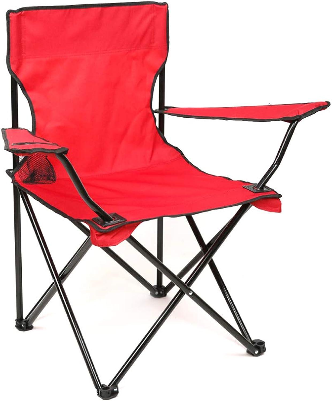 Beach Chair Wild Beach Beach Fishing armrest Folding Chair-red