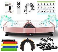 振動マシン 室内ダイエット器具 脂肪燃焼 减肥 产后贴身健身仪 ぶるぶる振動マシーン LED表示 リモコンも Bluetooth音楽機能 附健身带 俯卧撑架 臀部训练器