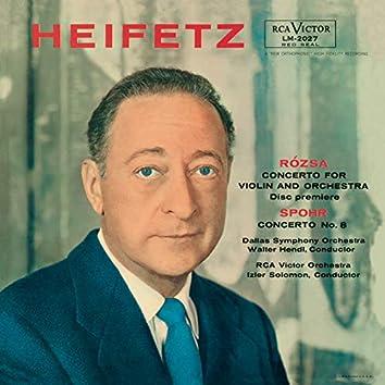 Rosza: Violin Concerto, Op. 24, Spohr: Violin Concerto No. 8, Op. 47 in A Minor, Tchaikovsky: Sérénade mélancolique, Op. 26