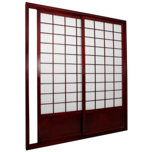 Buy Discount Oriental Furniture 7 ft. Tall Zen Shoji Sliding Door Kit (Double - Sided) - Black