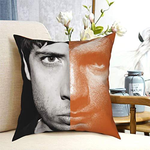 E D S Heeran Pillowcase Super Soft Breathable with Zipper Closure Pillow Case Square Pillowcase Furnishing Pillowcase Cushion Cover for Sofa Home 18'X18' Black
