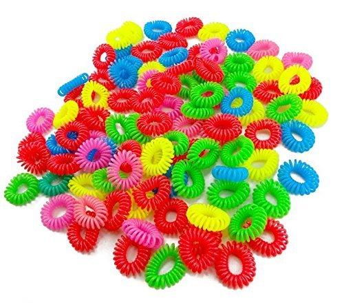 Sourcingmap Lot de 5 Lady couleurs assorties en plastique Bouncy bobine cheveux queue de cheval Supports (Brights)