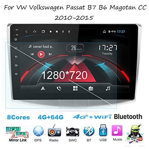 Android 8.1 Autoradio Radio Navigationssystem Für VW Volkswagen Passat B7 B6 Magotan CC 2010-2015 Gürtel DAB+ Digitalradio Bluetooth USB Mirrorlink Sygic GPS Verkehrsinfo Navigation ,8cores,2G+32G