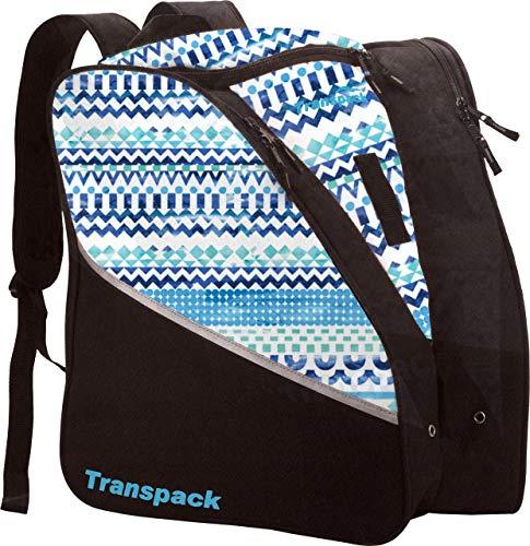 Transpack Edge Junior Kids Ski/Snowboard Boot Bag - Black/Green Skull