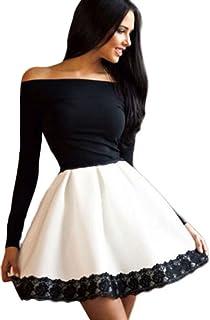 Vestiti Eleganti Bianco E Nero.Amazon It Bianco E Nero Tubino E Peplum Vestiti Donna