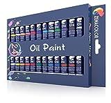 Zenacolor - 24 Tubos de Pinturas Oleo 12ml - Set de 24 Pinturas Unicos para Niños o...