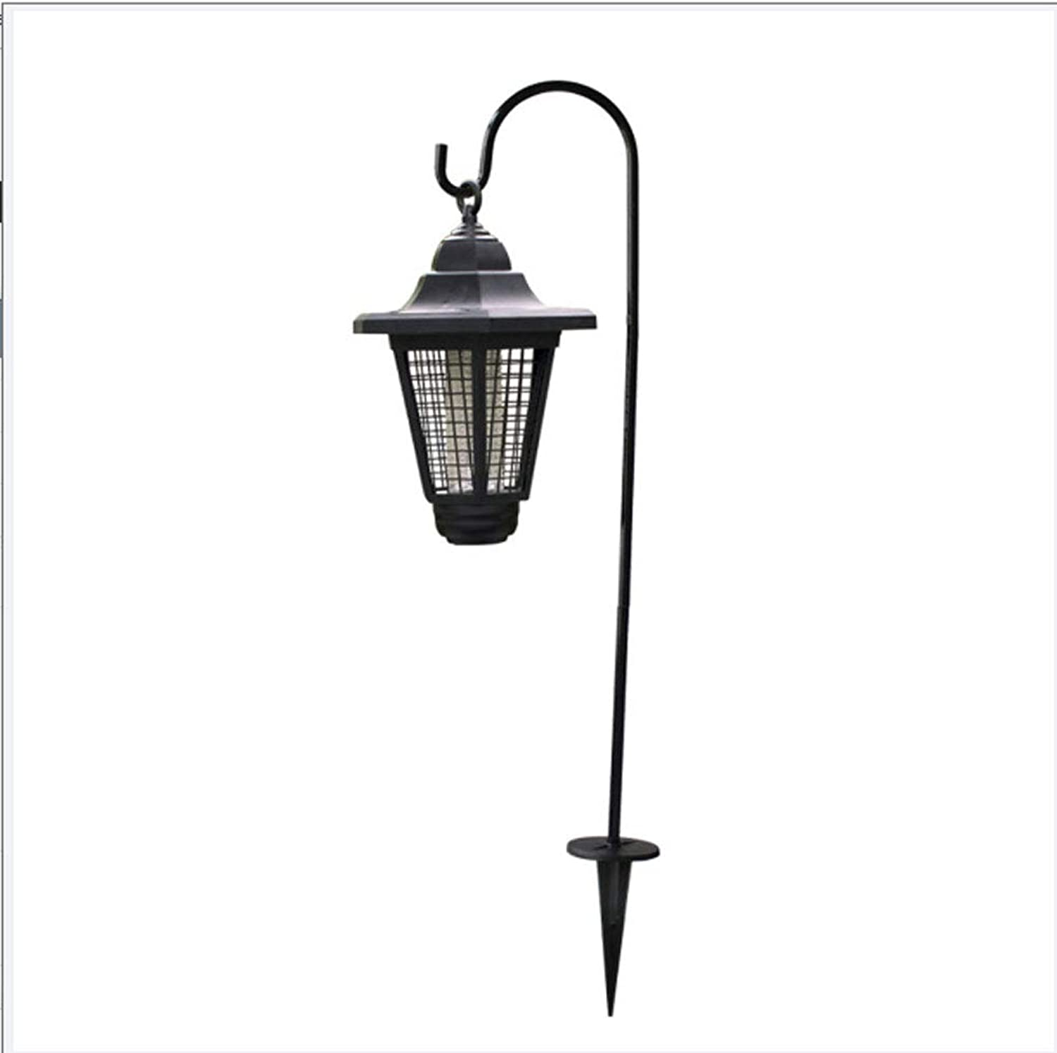 Mosquito Killer Lamp,Solar LED Outdoor Mosquito Killer Lamp Waterproof UV Light HighVoltage Grid Whole Night Predect for Bug Zapper, Insect Killer,Plugintype