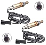 MOSTPLUS Male O2 Oxygen Sensor Front & Rear Downstream & Upstream Compatible with Ford Mazda Mercury(Set of 2)