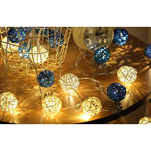 Longzhuo LED Licht Rattan Ball Voller Sterne Lichter Hochzeit Dekoration Lichter Kleine Lichter Drinnen DraußenLichterkette Hauptdekoration Lichter Erntedank Halloween Weihnachten 4M