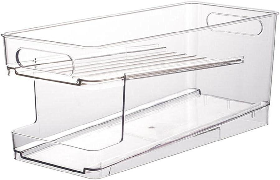 Refrigerator Organizer Bins cheap Soda Dispenser Plastic Clear Bombing new work Can