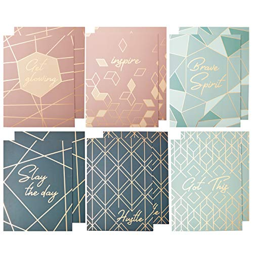 Decorative Pocket Folders, Rose Gold Office Supplies (9.5 x 11.5 in, 12 Pack)