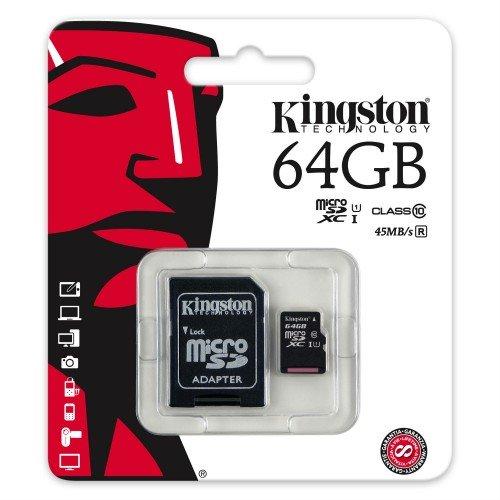 Keple | 64GB SD scheda di memoria per Garmin Dash Cam HD Videocamera auto cruscotto | Kingston Classe 10SDHC SDXC