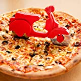 takestop® Rotella Liscia Taglia Pizza A Forma di Vespa MOTORINO TAGLIAPIZZA Professionale...