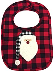 Baby Christmas Bib with Santa