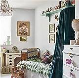 Restbuy Kinder Betthimmel Baldachin aus Baumwolle Mückenschutz Moskitonetz Insektenschutz Baby indoor Play Lesen Zelt Dekoration für Bett und Schlafzimmer (Dunkelgrün) - 3