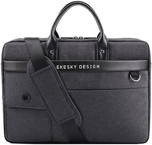 Lekesky Laptop Bag 15.6 Inch Laptop Briefcase for Men Expandable Messenger Shoulder Bag with Removable Strap