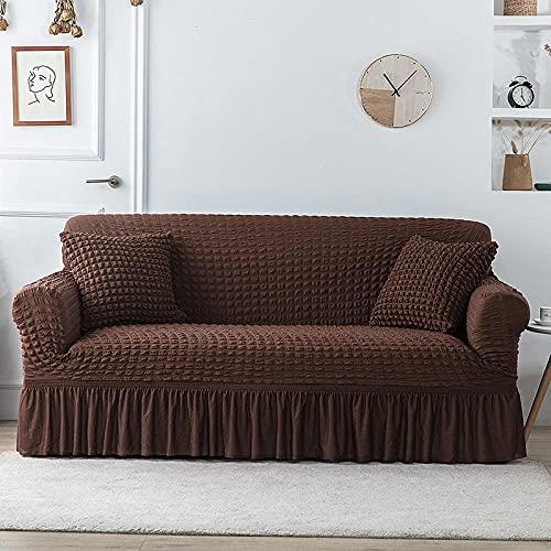 Fundas de sofá de Esquina,Sofá-Cama elásticos Todo incluido-A-12_235-300cm,Cubre Sofa Universal Tejido de Poliéster