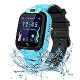 Relojes para Niños - Smart Watch Phone para Niños Niña Game Watch (Tarjeta SD de 1GB incluida) Pantalla táctil Relojes Inteligentes con Llamada Juego Cámara Música, Niños de 3 a 12 años(Azul)