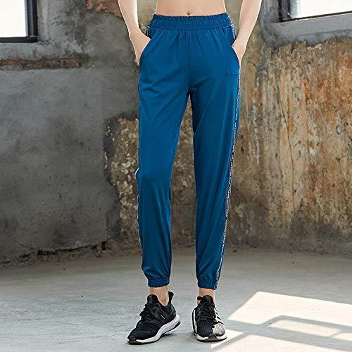 Rrui Sportswear panty & leggings voor dames losse yoga lente voetjes broek sport vrije tijd fitness sneldrogende melk zijde lila S.