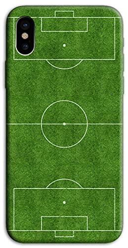 Mixroom - Cover Custodia Back Case in TPU Silicone Morbido per Apple iPhone XR Fantasia Campo da Calcio H127