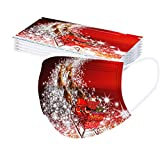 Panpany 20/50 Stück Mundschutz mit Weihnachten Motiv Bandana Multifunktionstuch Damen Atmungsaktive Baumwolle