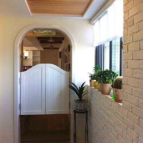 Guowei Pastoral Schwingtür Kiefernholz zum Cafe Bar Küche Garten Terrasse Eingang Verwenden, Anpassbar (Color : B, Size : 90cmx90cm)