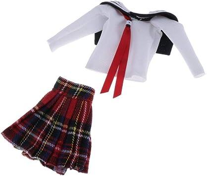 Amazon.es: perfeclan Falda de Camiseta de Uniforme Escolar de ...