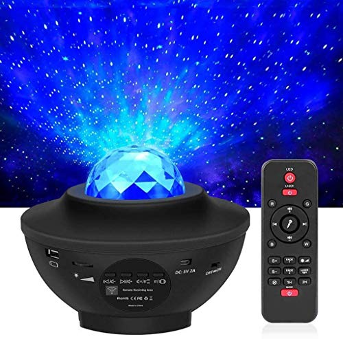 Matefielduk Starry Sky LED Projector,Starry Star Light with Remote Control, Starry Star/Moon/Water Wave Effect, Bluetooth Speaker, Perfect for Gifts/Decoration/Kids/Adults