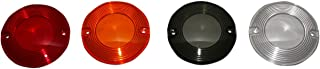 Custom Dynamics HDSMOOTHAMBER Turn Signal Lens (Amber Flat for LED Inserts)