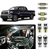 AUTOGINE Super Bright 6000K White LED Interior Light Bulbs Kit Package for 2007-2019 Toyota Tundra + Install Tool