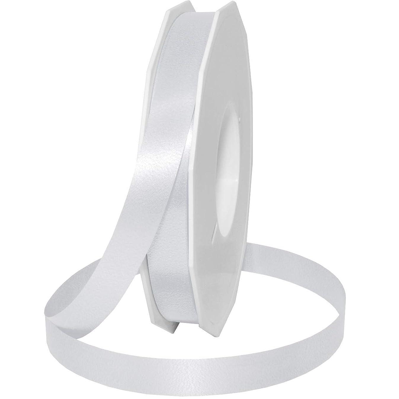 Morex Ribbon Style 187 Ribbon, 5/8 inch by 100 Yards, White