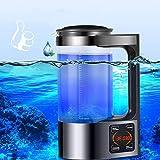 Kacsoo Generador de Agua de Hidrógeno, 2L Generador de iones de agua portátil Con pantalla LED y controlador de termostato máquina ionizadora de Agua alcalina Anti-envejecimiento Mejora la inmunidad