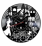 The Wizard of Oz Wall Clock Made of Vintage Vinyl Records - Stylish Clock and Amazing Gifts Idea – Unique Home Decor – Personalized Presents for Men Women Kids – Great for Living Room Bedroom Kitchen
